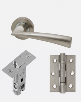 LPD Mars Handles, Latch And 2 Hinge Packs | Optional Privacy Latch