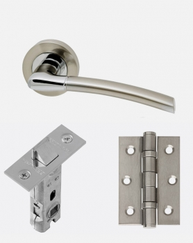 LPD Mercury Handles, Latch And 2 Hinge Packs | Optional Privacy Latch