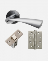 LPD Pluto Handles, Latch And 3 Hinge Packs | Optional Privacy Latch