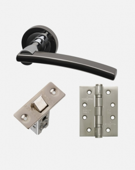 LPD Sirus Handles, Latch And 3 Hinge Packs | Optional Privacy Latch