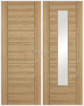 LPD Laminate. Vancouver Oak Paneled And Glazed Doors