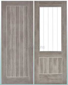 LPD Mexicano Light Grey Laminate Panel Doors And Glazed Doors