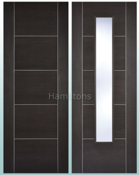 LPD Laminate. Vancouver Dark Grey Panel Doors And Glazed Doors
