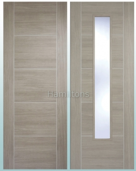 LPD Laminate. Vancouver Light Grey. Panel Doors And Glazed Doors