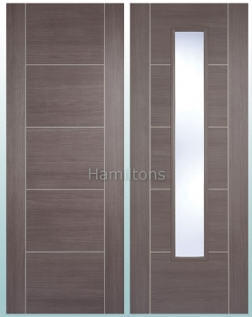 LPD Laminate. Vancouver Medium Grey. Panel Doors And Glazed Doors