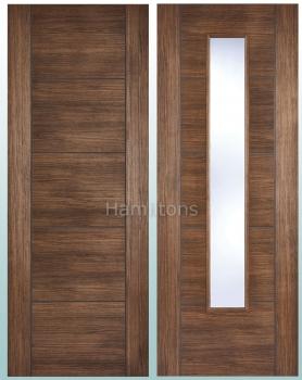 LPD Vancouver Walnut Laminate Panel Doors And Glazed Doors