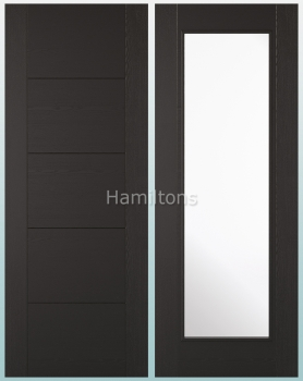 LPD Laminate. Vancouver Black Ash Panel Doors And Glazed Doors