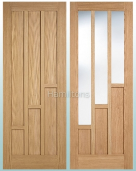 LPD Oak Coventry, Solid Panel Doors and Glazed Doors