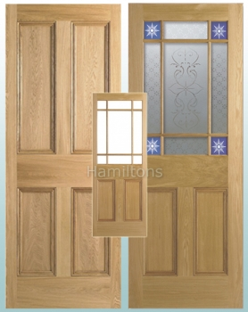 LPD Oak Downham Glazed Doors and 4P Panel Doors