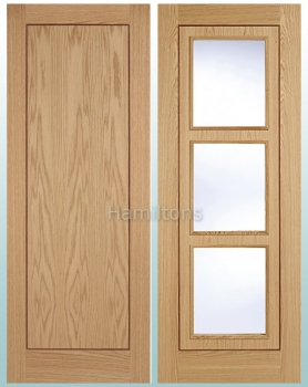 LPD Oak Inlay Panelled and Glazed Standard Doors and Fire Doors