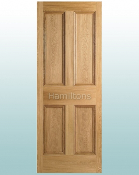 LPD Oak Nostalgia 4P Solid Panel Doors