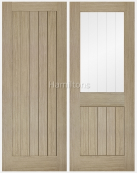 LPD Oak Belize Light Grey Solid Panel and Glazed Doors