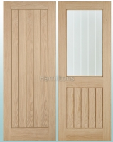 LPD Oak Belize Solid Panel and Glazed Doors