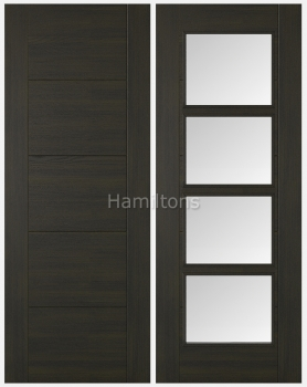 LPD Vancouver Smoked Oak Panelled and Glazed Doors