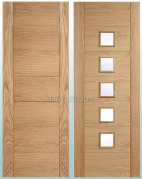 LPD Oak Carini, Solid Panel or Glazed Standard Doors and Fire Doors