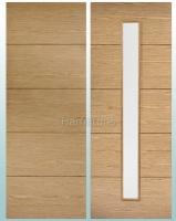 LPD Oak Lille Solid Panel Doors and Glazed Doors