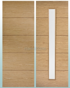 LPD Oak Lille Solid Panel Doors and Glazed Doors