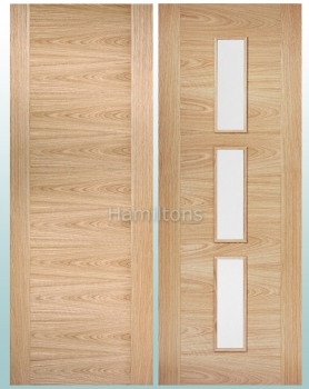 LPD Oak Sofia Solid Panel Doors and Glazed Doors