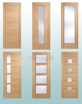 LPD Oak Vancouver Solid Panel Doors and Glazed Doors