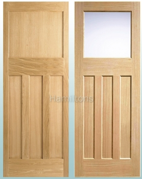 LPD Oak DX30'S Shaker Panel and Glazed Doors