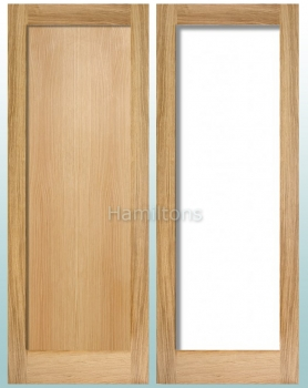 LPD Pattern 10 Oak Panel, Clear Or Obscure Glass And Unglazed Doors