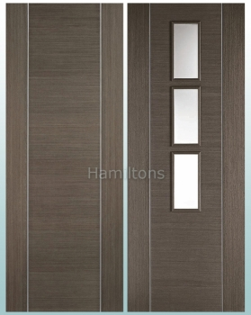 LPD Alcaraz Chocolate Grey Solid Panel And Glazed Doors