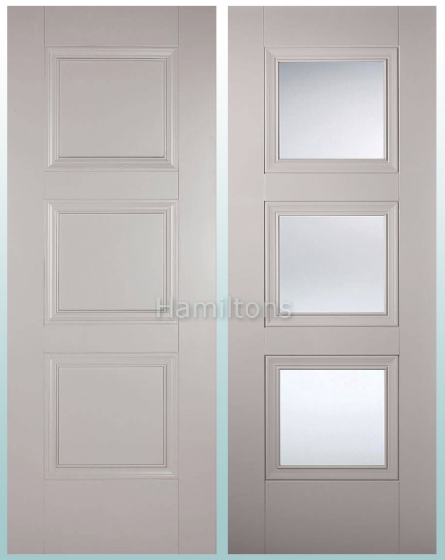 Lpd Colours Amsterdam Grey Panel And Clear Glass Doors And Fire