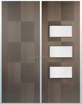 LPD Apollo Chocolate Grey Solid Panel Doors And Glazed Doors