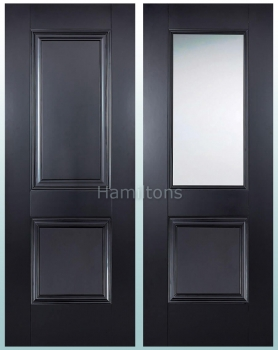LPD Colours Arnhem Black Panel and Clear Glass Doors, and Fire Doors