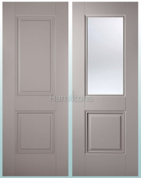 LPD Colours Arnhem Grey Panel and Clear Glass Doors, and Fire Doors