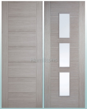 LPD Hampshire Light Grey Panelled Or Glazed Doors And Fire Doors