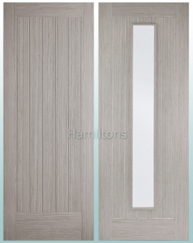 LPD Somerset Light Grey Panel Doors And Glazed Doors