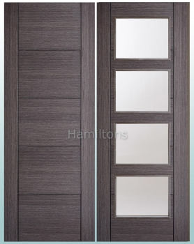 LPD Vancouver Ash Grey Panelled And Glazed Doors Plus Fire Doors