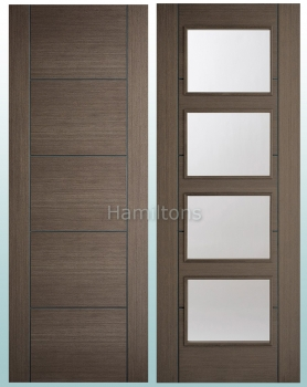 LPD Vancouver Chocolate Grey Solid Panel Doors And Glazed Doors