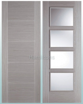 LPD Vancouver Light Grey Solid Panel Doors And Glazed Doors