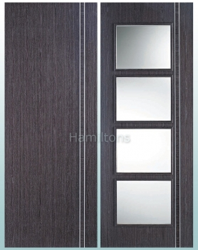 LPD Zanzibar Ash Grey Panelled And Glass Standard Doors And Fire Doors