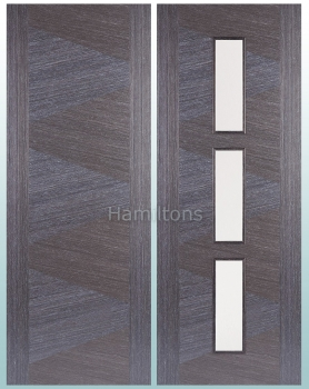 LPD Zeus Ash Grey Solid Panel Doors And Glazed Doors