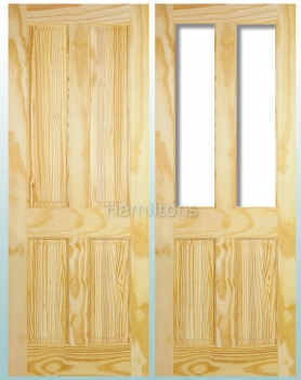 LPD Clear Pine Victorian 4 Panel and Richmond Unglazed Doors