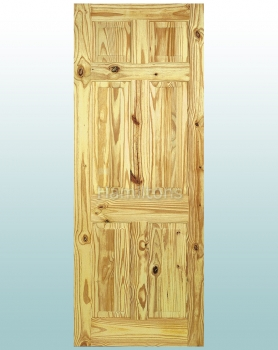 LPD 6 Panel Knotty Pine Standard Doors : all doors - pezcame.com