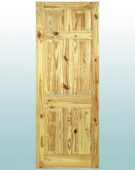LPD 6 Panel Knotty Pine Standard Doors
