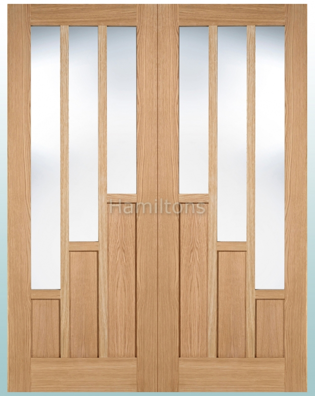 Lpd Oak Coventry Rebated French Doors With Clear Glass Save More