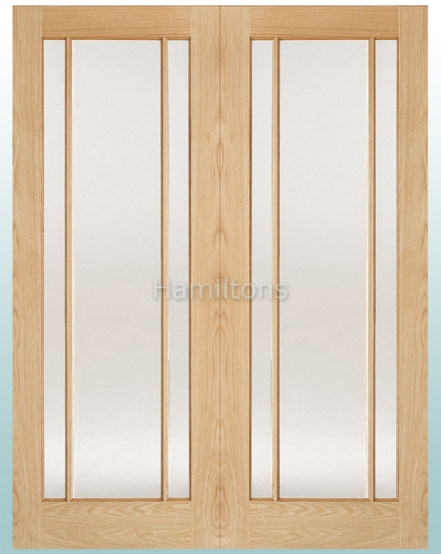 Lpd Oak Lincoln Glazed Pairs Rebated French Doors