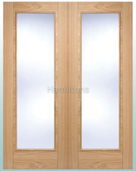 LPD Oak Vancouver Pattern 10 Rebated French Doors