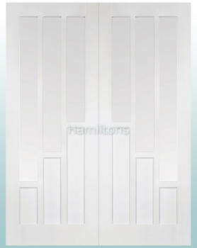 LPD White Coventry Glazed Pairs Rebated French Doors