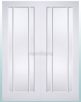 LPD White Lincoln Glazed Pairs Rebated French Doors