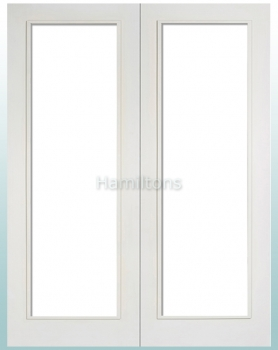 LPD White Pattern 20 Glazed Pairs Rebated French Doors