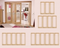 LPD Oak Lincoln Folding Doors And Frame Frosted Glass