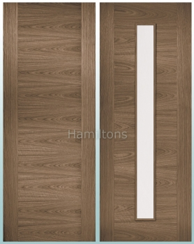 LPD Walnut Sofia Solid Panel and Glazed Doors