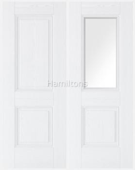 LPD Premium Arnhem White Grain Panel Solid And Glazed Doors
