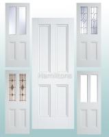 LPD Premium Solid White Nostalgia 4 Panel Doors and Malton Glazed Doors